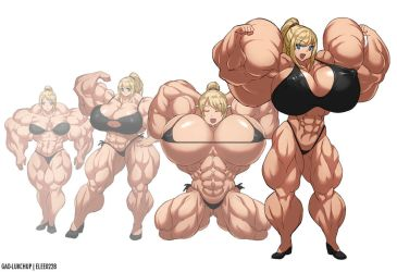 Samus Muscle Growth (Part 5: Level 17-20) by elee0228