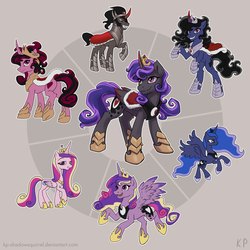 Luna Cadance Sombra Fusion by KP-ShadowSquirrel