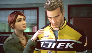 Dead Rising 2 Chuck and Stacey in Ending F by SOLIDCAL