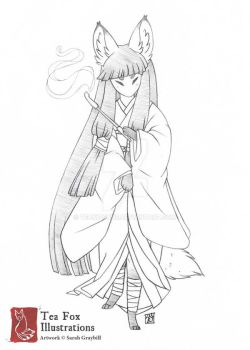 Okina (Character Sketch) by TeaKitsune