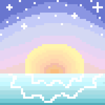 Pixel sunrise (read description) by Fidelibus