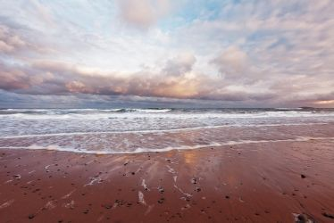 Morning Clouds and Sand by EvaMcDermott