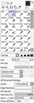 Airbrush Settings by StarshipSorceress
