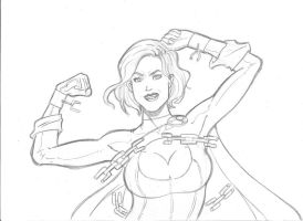 Power Girl Commission by Rafa Lee by TheRafaLee