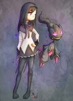 Homura And Mega Banette by Zeighous