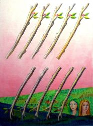 10 Of Wands by annalobello