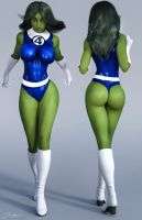 Character Reference She-Hulk v3 by tiangtam