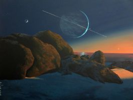 Sunset at Triton by Axel-Astro-Art