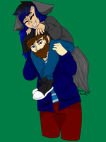 Piggy back rides! by BuckshotBandit