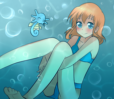 Underwater Misty and horsea - Happy New Year