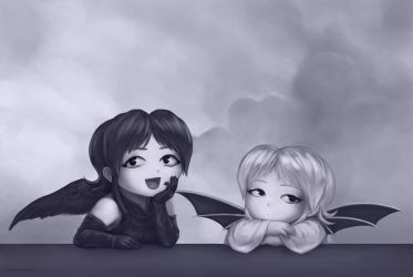 two little angels by VoxGraphicaStudio