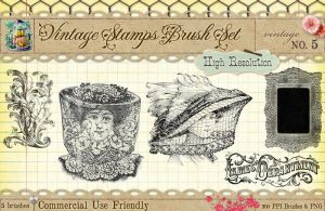 Vintage Stamps PS Brushes 5 by starsunflowerstudio