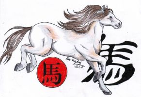 Chinese Horoscope Horse by LARvonCL