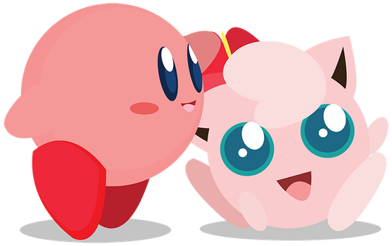 Chibi Kirby and Jigglypuff Vector by ViralDrone