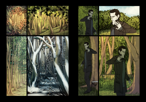 Scenery Practice 2 (of 2) + Final Test Page by AngeloDellaMusica