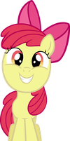 Applebloom grin by MoongazePonies