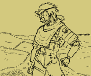 Venom Snake Sketch by Twardz
