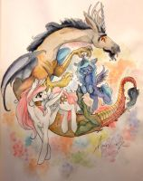 My Little Pony Discord by QueenAnneka