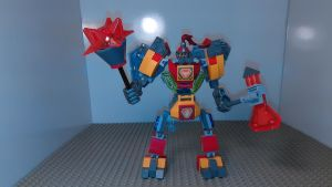 Full-Frontal-Assault Battle Suit NEXO KNIGHTS MOC by sideshowOfMadness