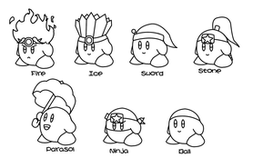 Kirby ability set 1 by JonCausith