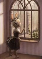 At the window by Daiyou-Uonome