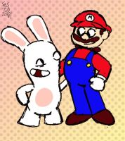 Mario Rabbids: Unlikely Team Up by selom13