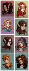 Headshot Commissions Round 2 by CrystalCurtisArt