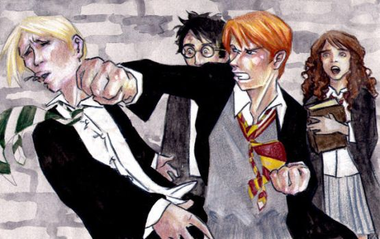 Ron VS Malfoy by endoftheline
