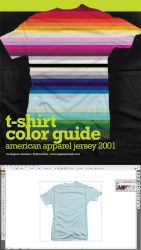T-Shirt Color Guide - AA by angelaacevedo