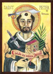 [Icon] St. Peter of Verona by agianna