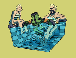 Cherno's Pool Time by BrianDanielWolf
