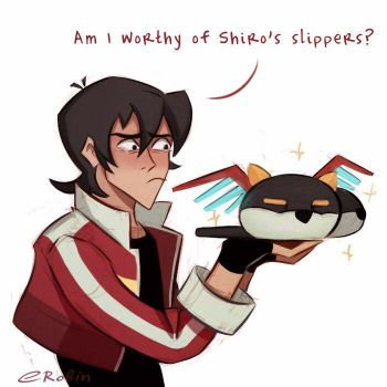Shiro's slippers by EnotRobin