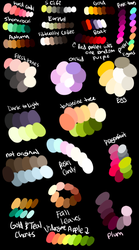 More Free Palettes by GreaserDemonAdopts
