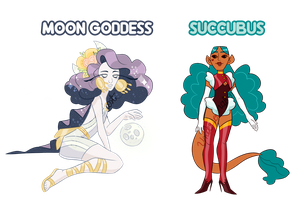 Demons N Goddesses AUCTION CLOSED by Ghost-Pirate-Adopts