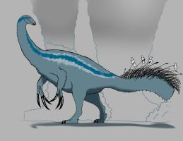 The gentle clawed and quilled giant. by allotyrannosaurus