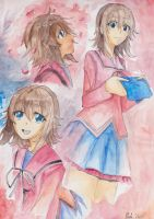 Watercolor girl by CrystalMelody-FT