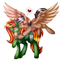 .:Warm Hugs [COLLAB]:. by xXCosmicCarrotXx