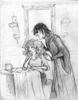 Snape and Hermione by HILLYMINNE