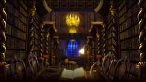 Pottermore Background: Hogwarts Library 2 by xxtayce