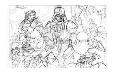 Empire 30th Giclee Prelim Art by Hodges-Art