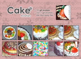 Cake Avatars 1 by galvanicprince