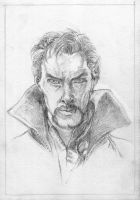 Dr. Strange (sketch) by KatyAmlie