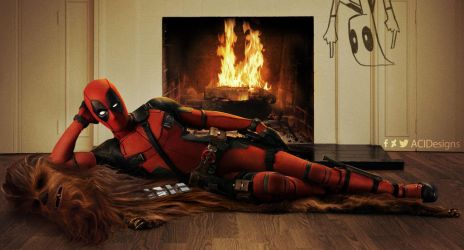 Deadpool Chewacca Fire by ACIDesings