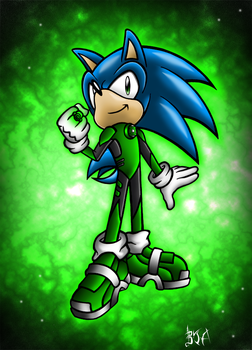 Green Lantern Sonic by Berty-J-A