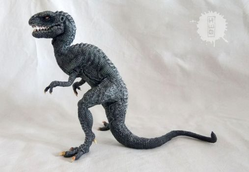 Vintage Dinosaur - stop motion figure by hikigane