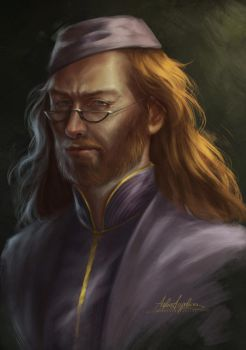 Young Dumbledore by AngieParadiseeker