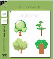 Object Pack - Doodle Trees by iMouritsa