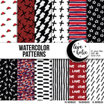 Watercolor Patterns digital papers by AveholicD
