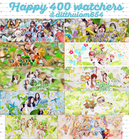 [FREE SHARE] PACK PSD ART - HAPPY 400 WATCHERS by ditthuiom654
