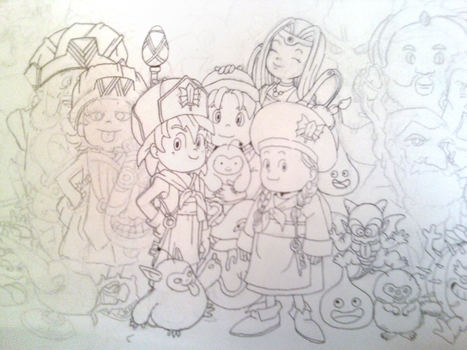 D Line Drawings Quest : From dragon quest to chrono trigger the video game art of akira